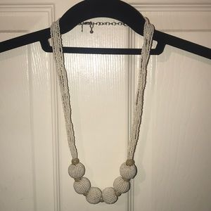 Express ivory beaded necklace